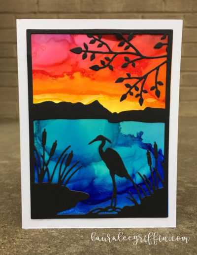 Copic Heron Silhouette