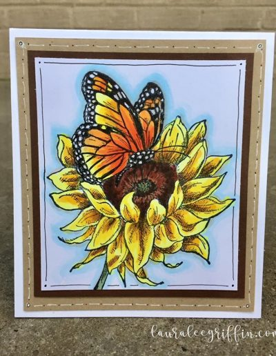 Copic Sunflower & Butterfly